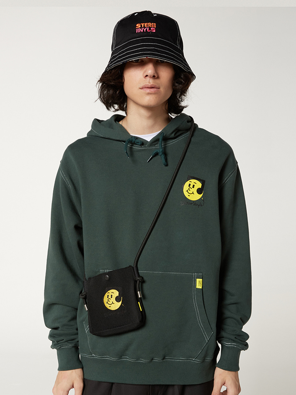 [FW20 SV X Sandomi Studio] Hucle Hoodie(Green) For NNG-STUDIO STEREO-SHOP