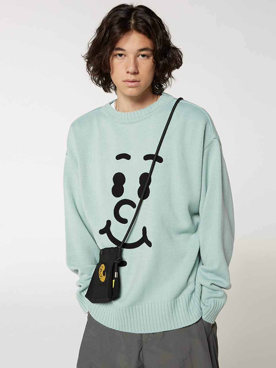 [Oct.8(Thu)Pre-order][FW20 SV X Sandomi Studio] Hucle Face Knit(Mint) STEREO-SHOP