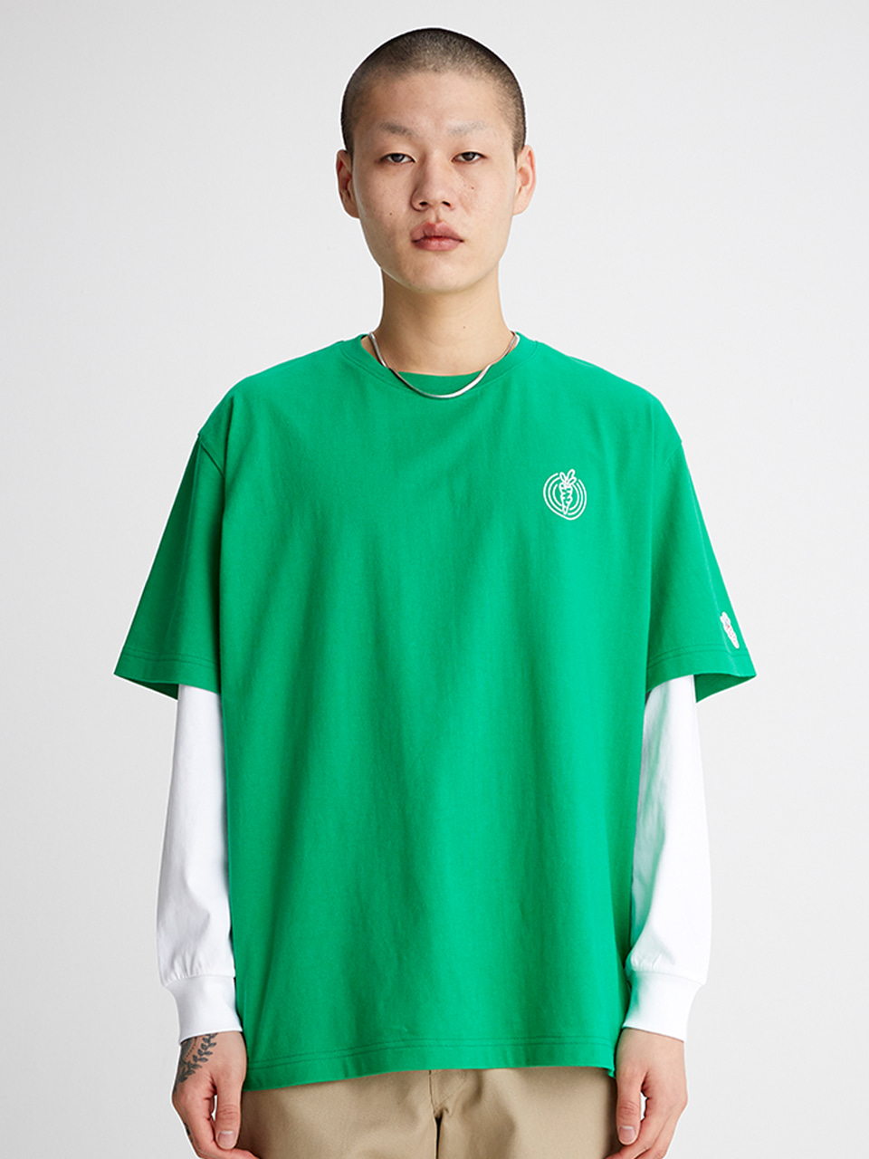 [SS20 SV X Carrots] One Point Logo T-shirts(Green) STEREO-SHOP