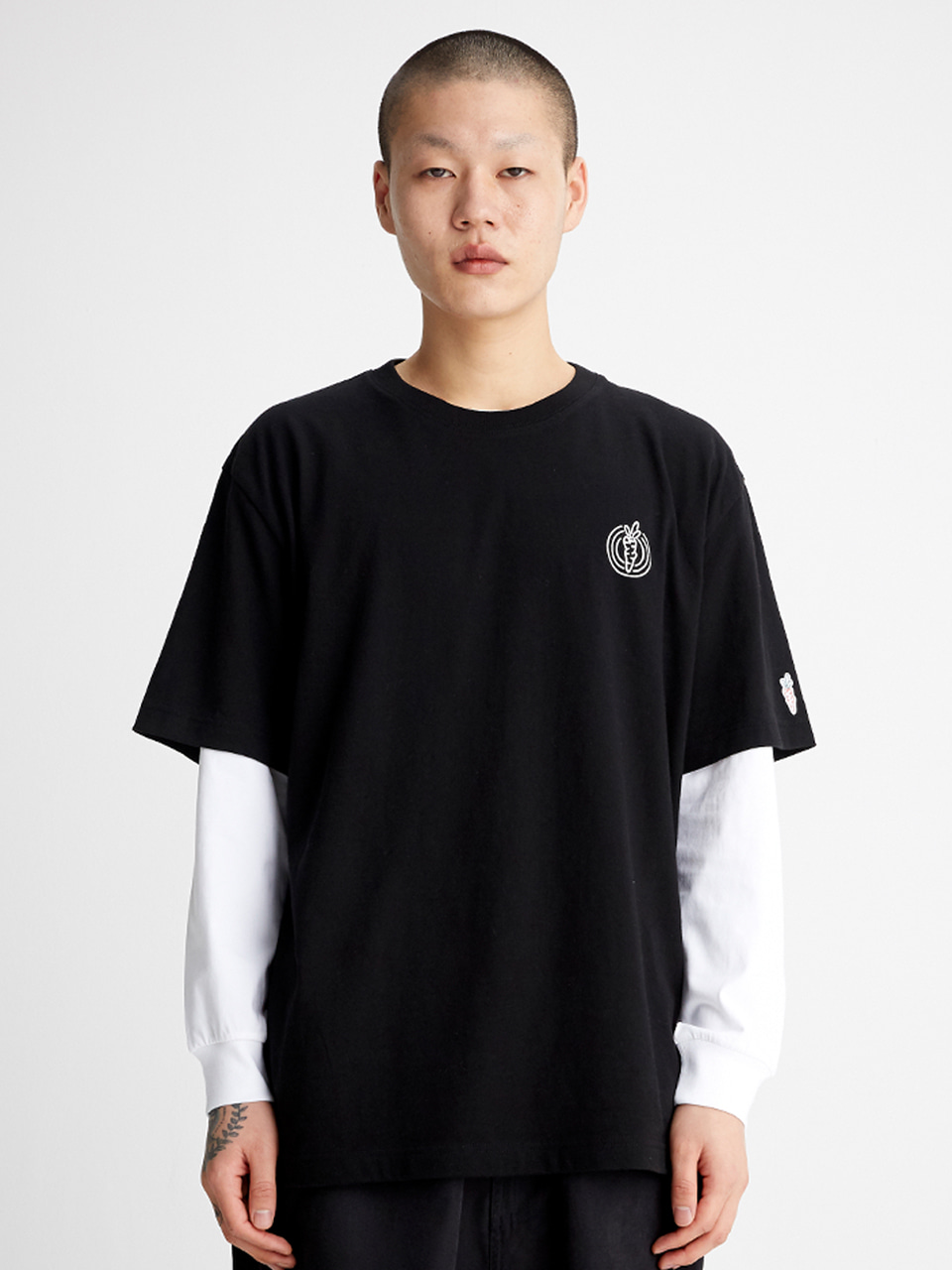 [SS20 SV X Carrots] One Point Logo T-shirts(Black) STEREO-SHOP