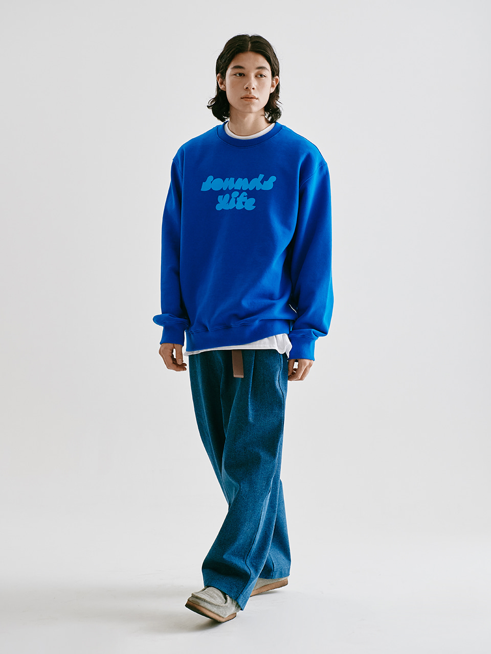 [FW20 Sounds Life] Sounds Life Sweatshirt(Blue) STEREO-SHOP