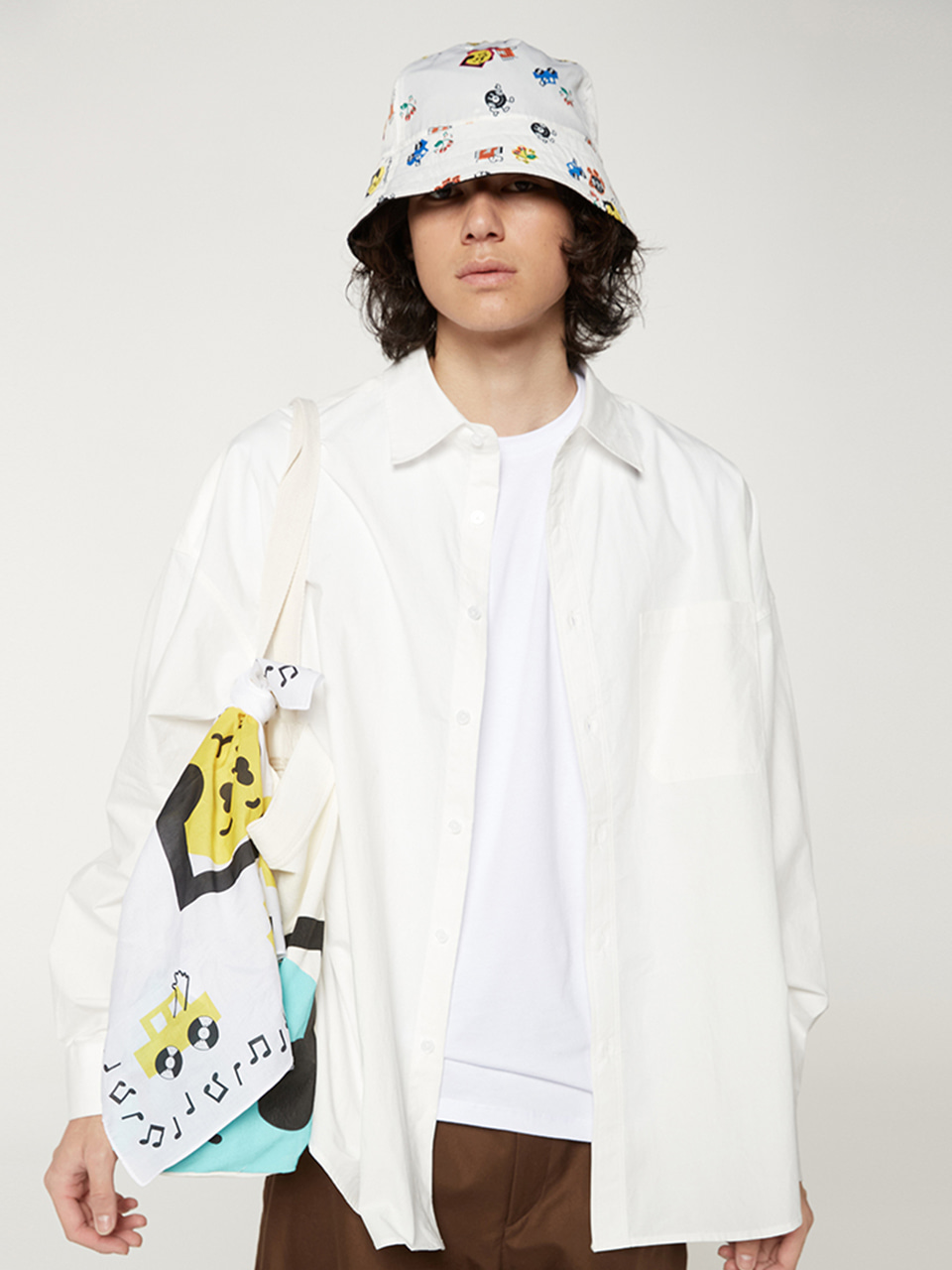 [FW20 SV X Sandomi Studio] Hucle Bandana(White) STEREO-SHOP