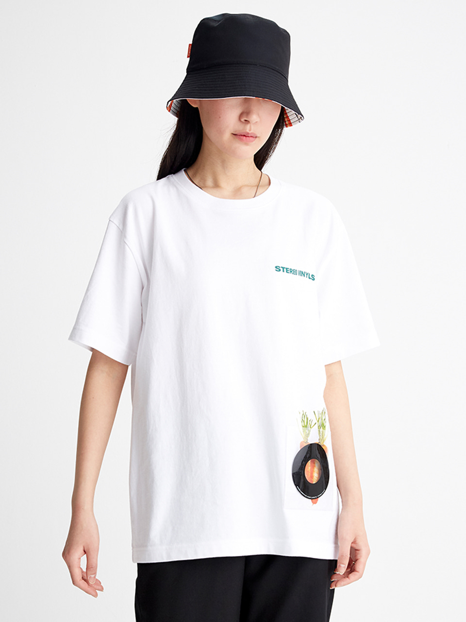 [SS20 SV X Carrots] Pvc Pocket T-Shirts(White) STEREO-SHOP