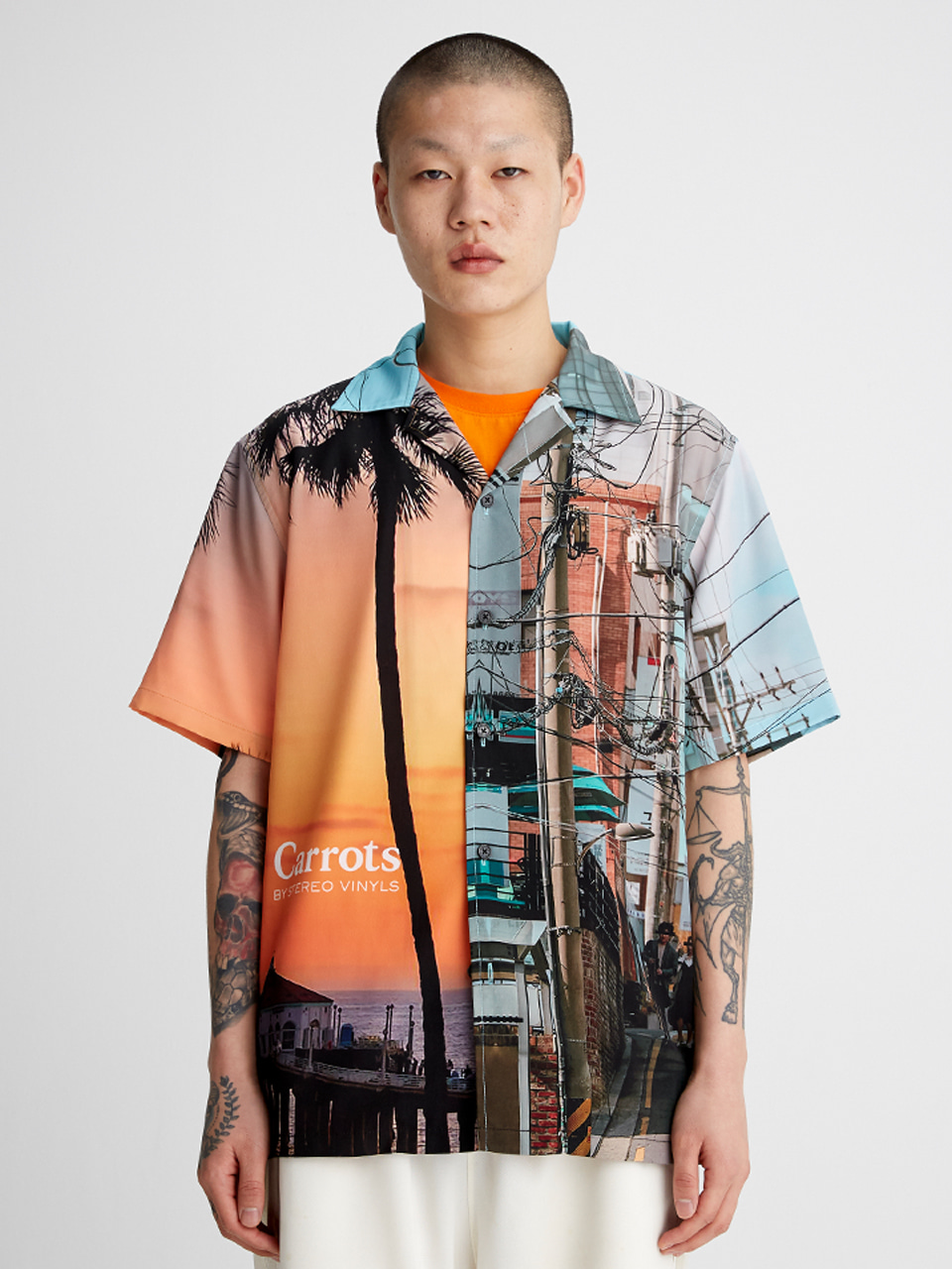[SS20 SV X Carrots] City Pattern Shirts(White) STEREO-SHOP