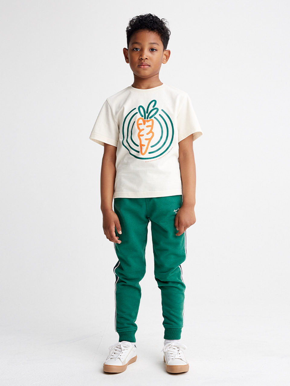 [SS20 SV X Carrots] Circle Carrots T-Shirts for Kids(Ivory) STEREO-SHOP