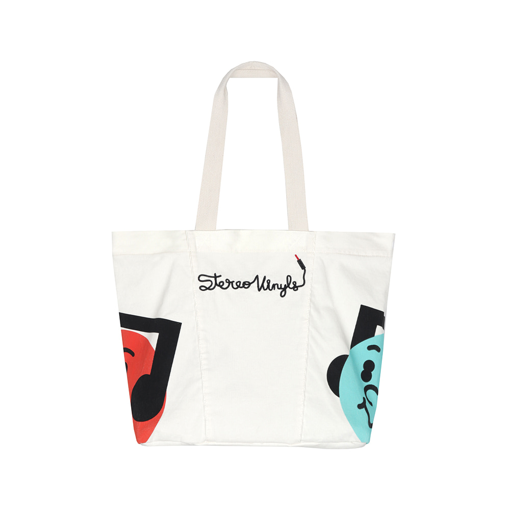 [FW20 SV X Sandomi Studio] Hucle Tote Bag(Ivory) STEREO-SHOP