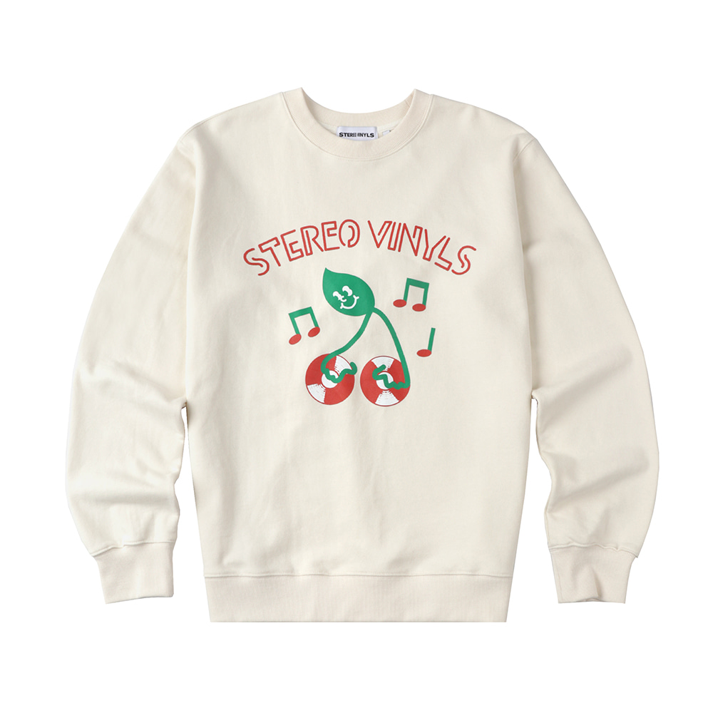 [FW20 SV X Sandomi Studio] Dj greend Sweatshirts(Ivory) STEREO-SHOP