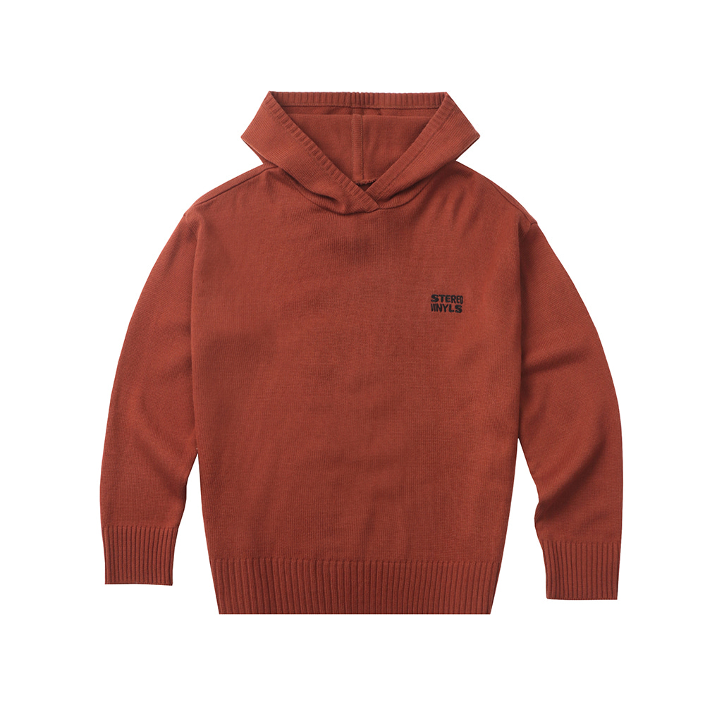 [FW20 SV X Sandomi Studio] Hucle Knit Hoodie(Brown) STEREO-SHOP