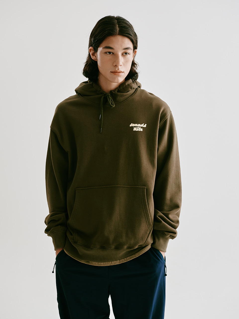 [FW20 Sounds Life] Boys & Girls Hoodie(Khaki) STEREO-SHOP