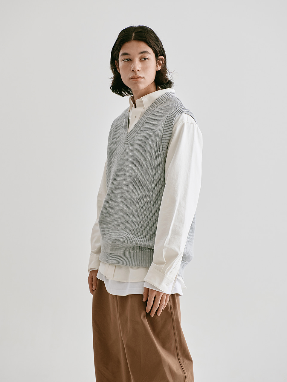 [FW20 Sounds Life] Mellow Knit Vest(Grey) STEREO-SHOP