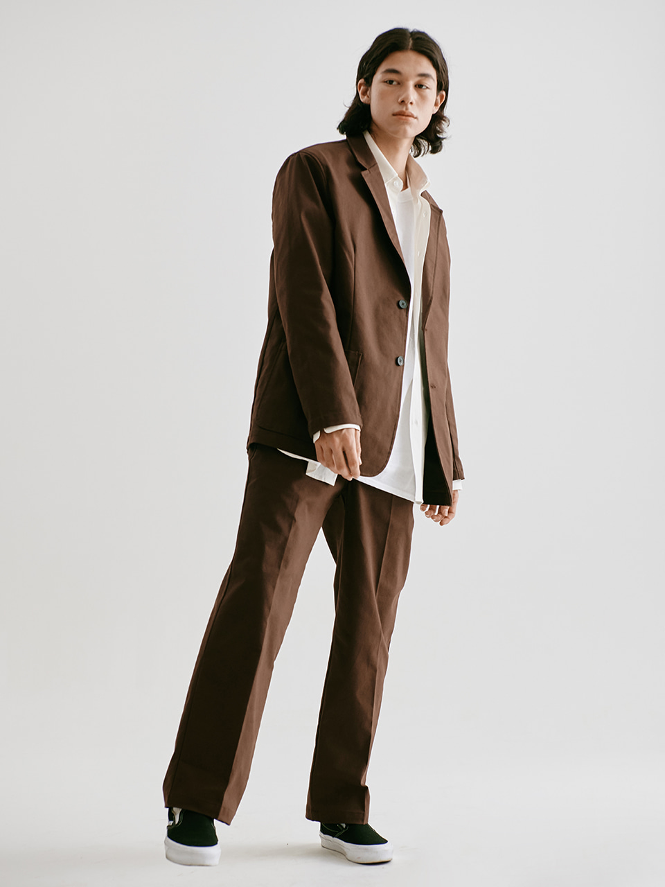 [FW20 Sounds Life] Oxford Club Pants(Brown) STEREO-SHOP