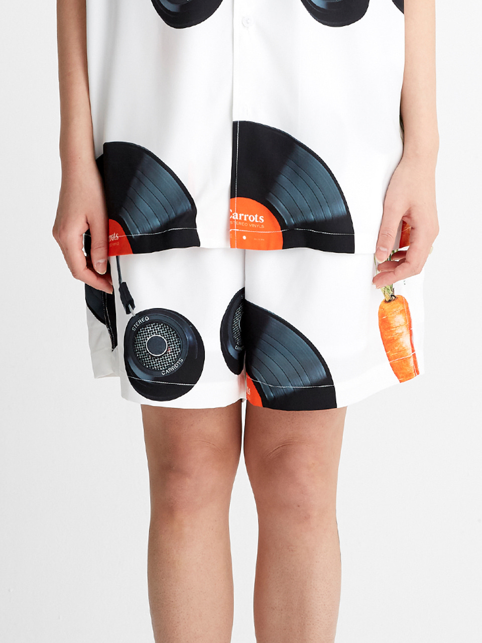[SS20 SV X Carrots] Carrots Pattern Short Pants(White) STEREO-SHOP