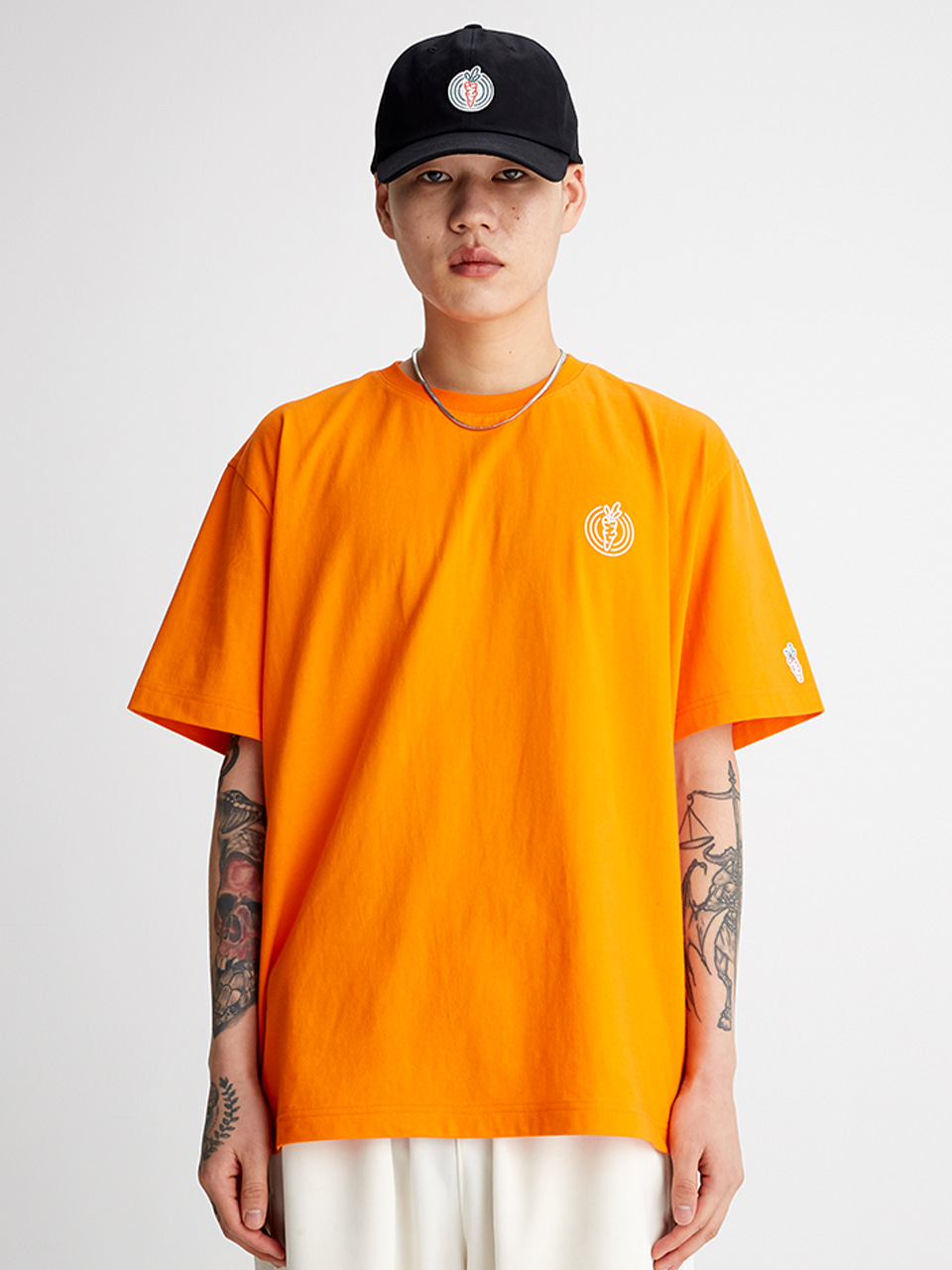 [SS20 SV X Carrots] One Point Logo T-shirts(Orange) STEREO-SHOP