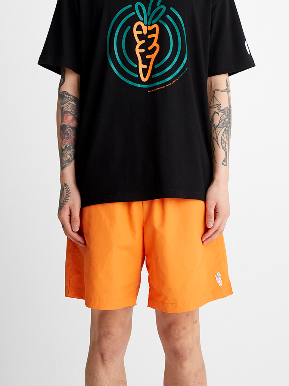 [SS20 SV X Carrots] Carrots Logo Short Pants(Orange) STEREO-SHOP