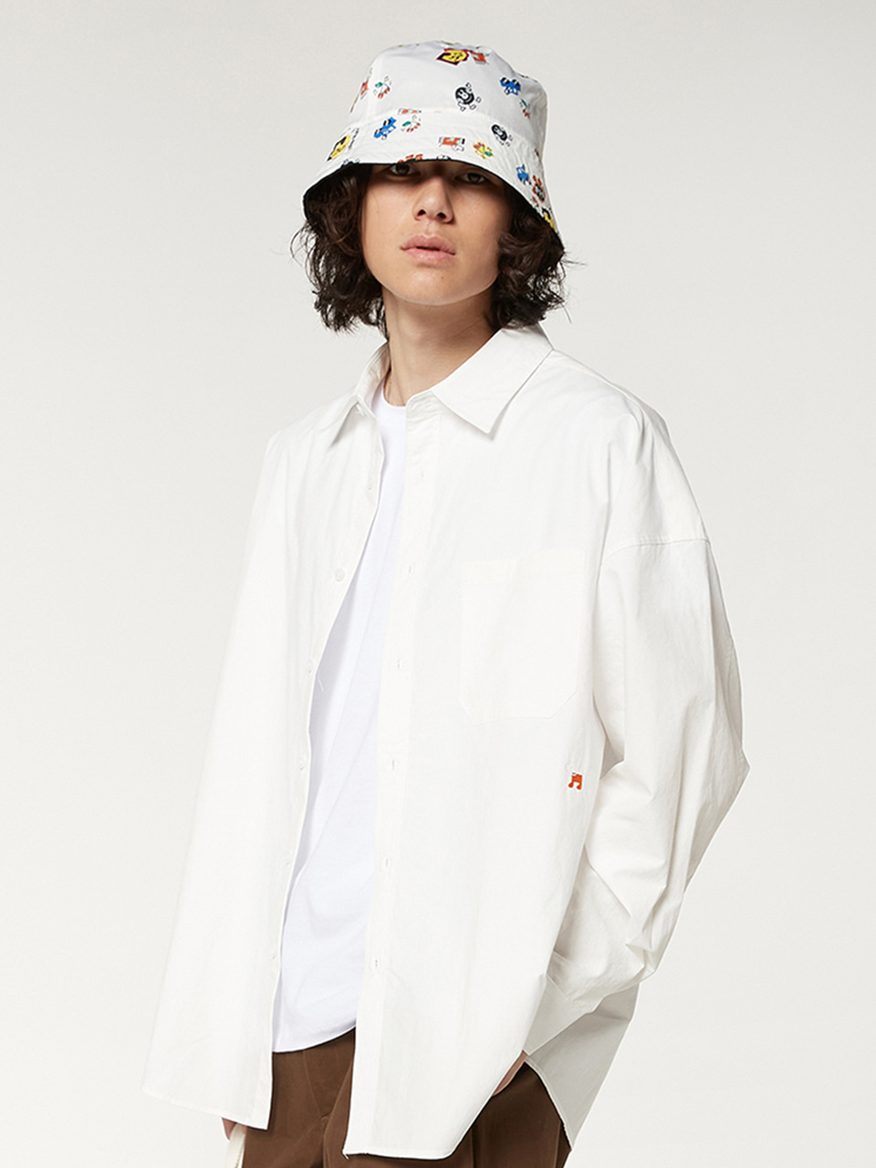 [FW20 SV X Sandomi Studio] Bowow Shirts(White) STEREO-SHOP