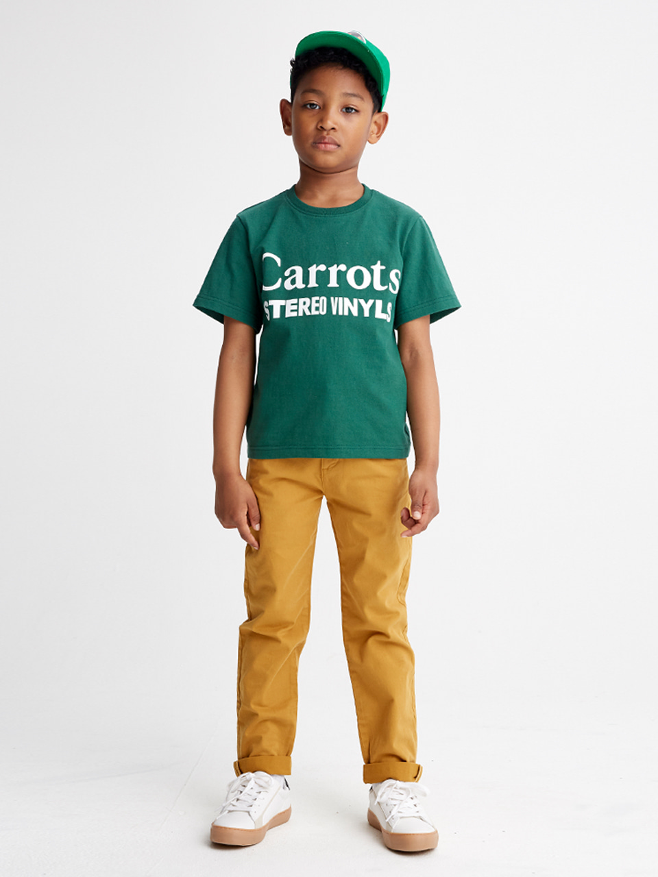 [SS20 SV X Carrots] Carrots Logo T-Shirts for Kids(Green) STEREO-SHOP