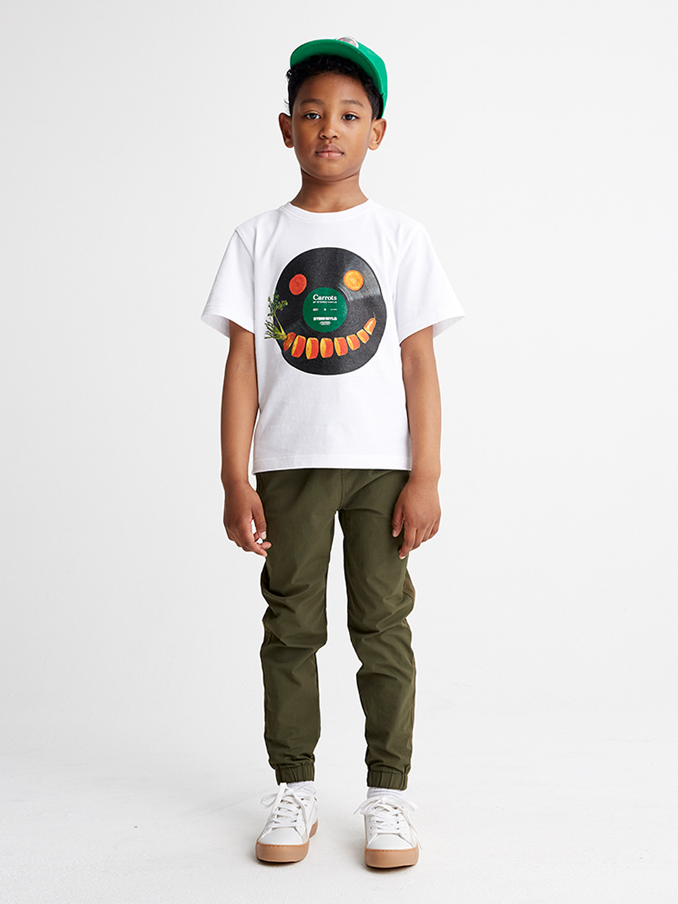[SS20 SV X Carrots] Smile Carrots T-Shirts for Kids(White) STEREO-SHOP