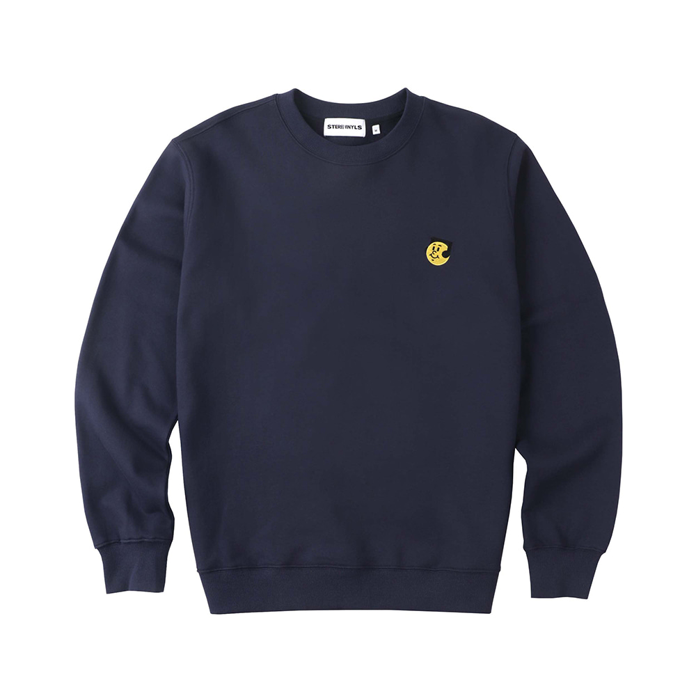 [FW20 SV X Sandomi Studio] Hucle Sweatshirts(Navy) STEREO-SHOP