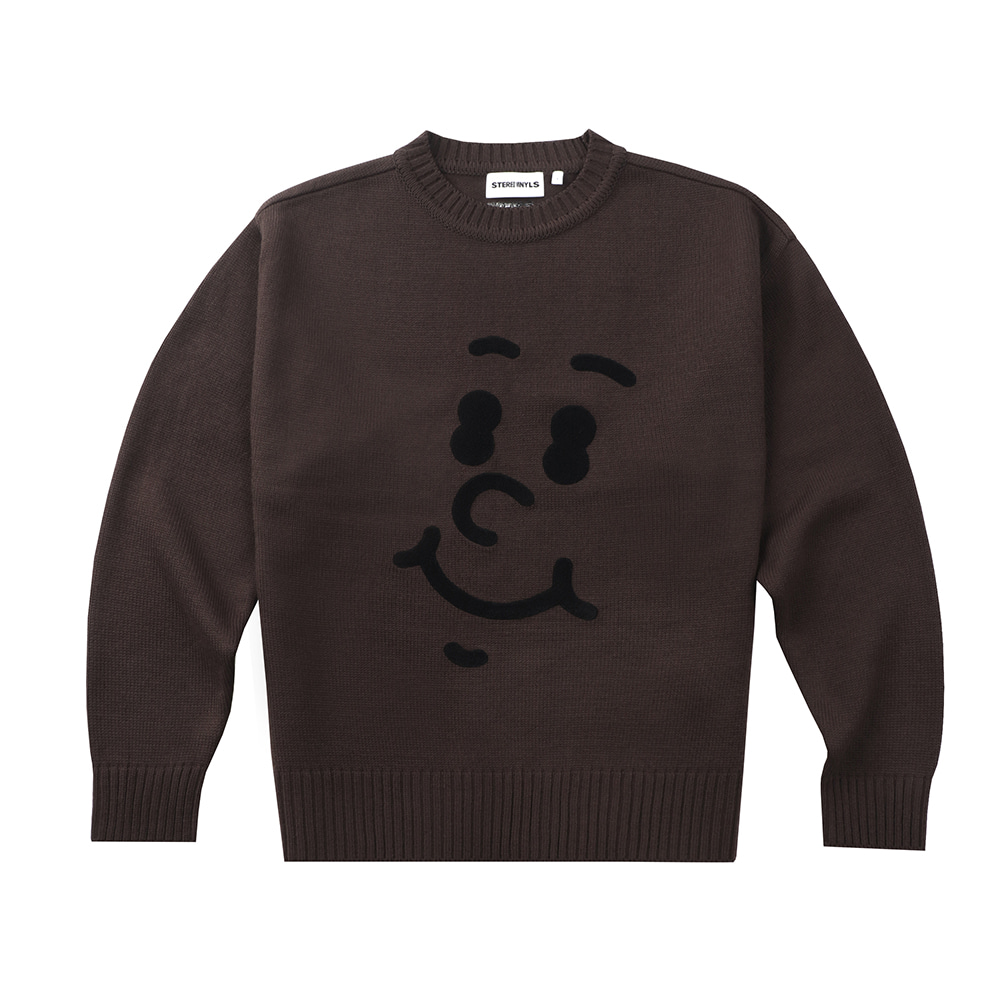 [FW20 SV X Sandomi Studio] Hucle Face Knit(Brown) STEREO-SHOP