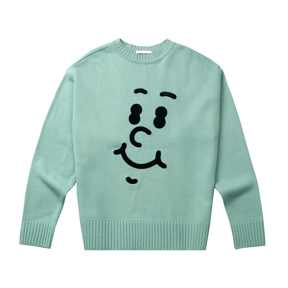 [FW20 SV X Sandomi Studio] Hucle Face Knit(Mint) STEREO-SHOP