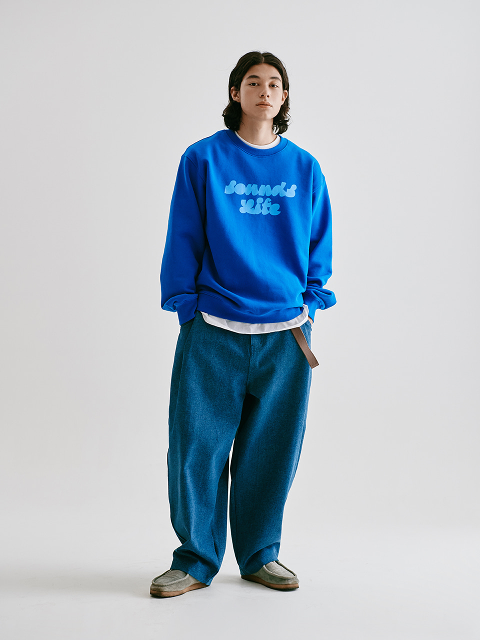 [FW20 Sounds Life] Balloon Snap Pants(Blue) STEREO-SHOP