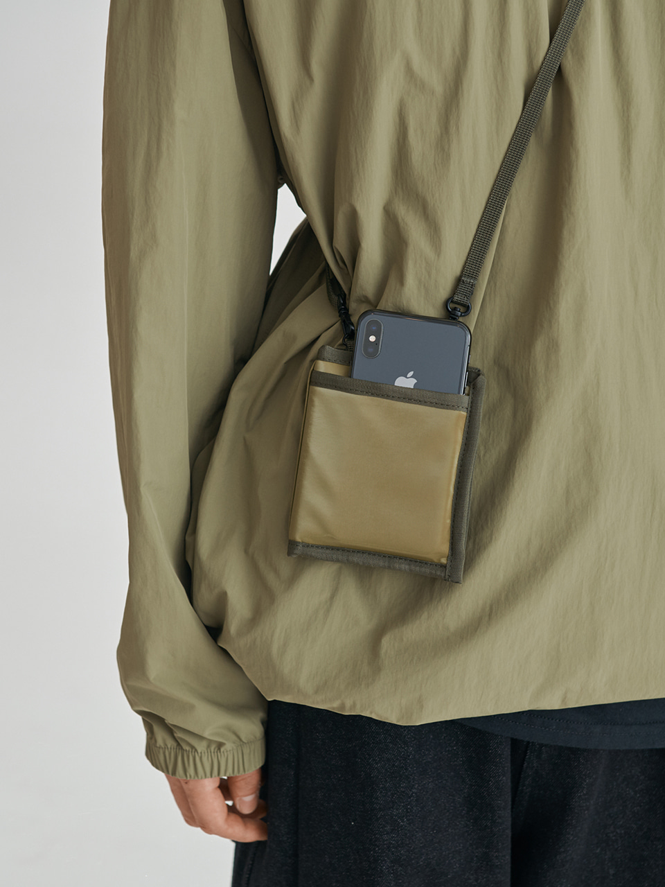 [FW20 Sounds Life] Wallet & Phone Cross Bag(Khaki) STEREO-SHOP
