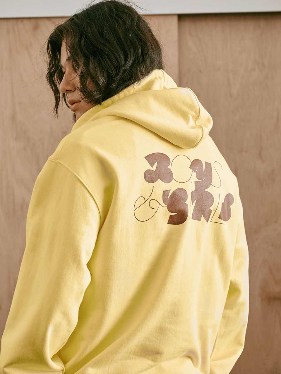 [FW20 Sounds Life] Boys & Girls Hoodie(Yellow) STEREO-SHOP