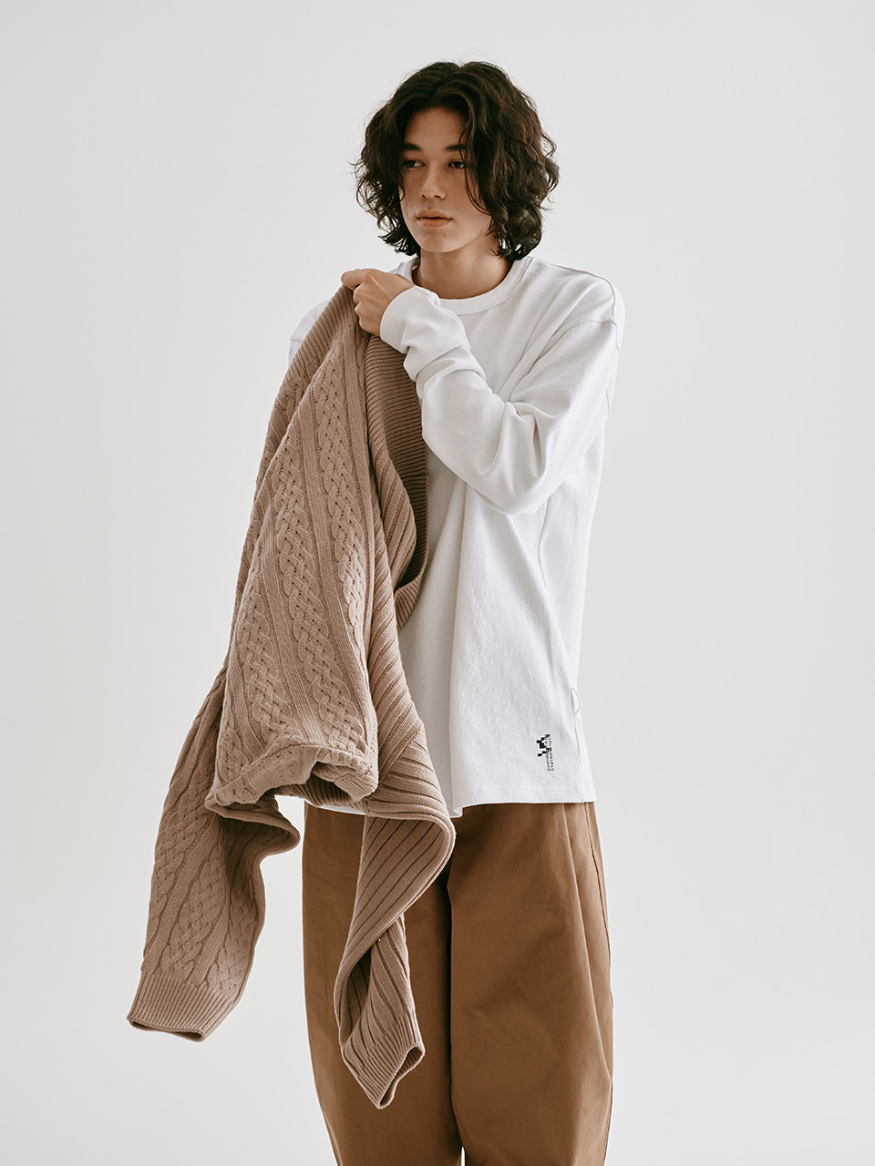 [FW20 Sounds Life] Comfy Long Sleeve T-shirt(White) STEREO-SHOP