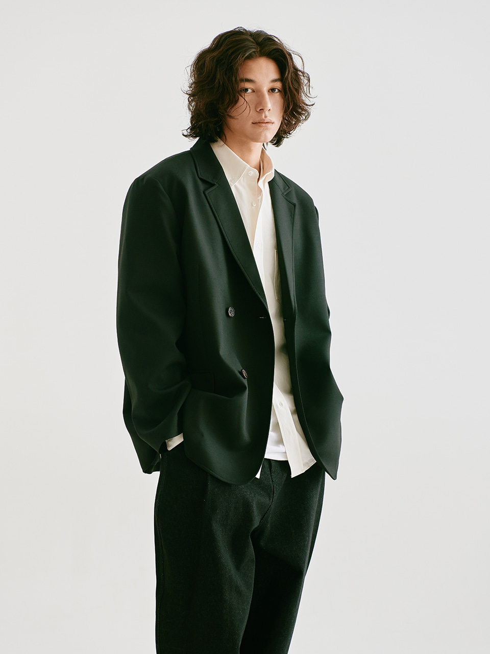 [FW20 Sounds Life] Oversized Double Blazer(Black) STEREO-SHOP