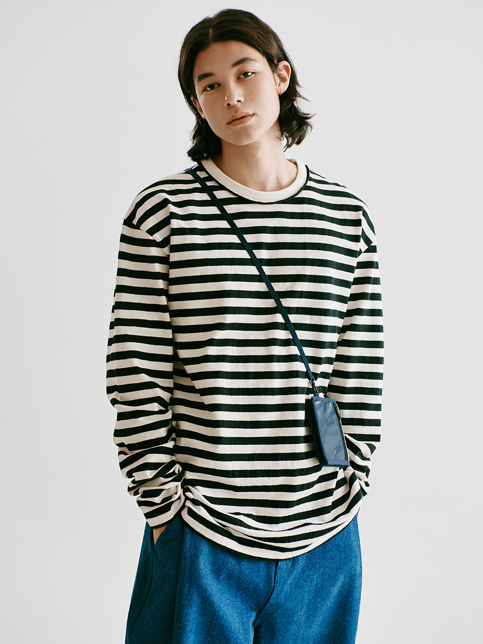 [FW20 Sounds Life] Comfy Striped T-shirt(Black) STEREO-SHOP